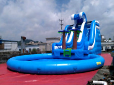 30x15x20 Commercial Inflatable Water Slide Bounce House Obstacle Course Combo