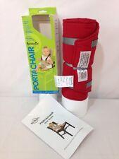 BambinOz Porta Chair Travel High Chair, Red - Distress Packaging - UNUSED