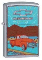 Zippo Chevrolet Retro Truck Street Chrome Windproof Pocket Lighter, 49070
