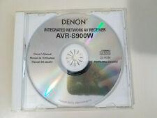 Denon AVR-S900W Integrated Network AV Receiver Owners Manual on CD-Rom OEM
