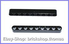 Lego Technic Liftarm schwarz Lochbalken 1 x 9 breit - 40490 - Black - NEU / NEW