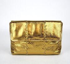 Neu Bottega Veneta Python Goldene Clutch Metalldetail 325679 7714