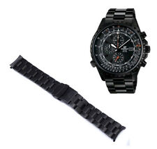Watchband Curved End Links New Suitable For casio edifice EF-527D-1AVEF Black