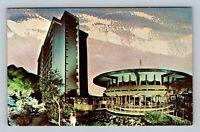Honolulu HI, Pagoda Hotel & Floating Restaurant, Chrome Hawaii Postcard