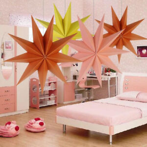 Nine Angles Paper Star Hanging Christmas Lantern Home Party Decoration Craft Kit