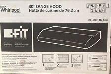 New listing whirlpool white 30 range hood wvu31 code