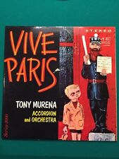 Vive Paris Tony Murena Accordion and Orchestra vinyl LP