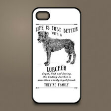 Lurcher dog phone case cover Apple iPhone Samsung Galaxy ~ Personalised