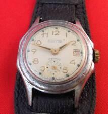 Vostok Soviet wrist watch mechanical 17 jewels leather band Working vintage USSR