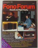 Fono Forum Zeitschrift Magazin Dezember 1985 Klassik & High Fidelty Hifi B10571