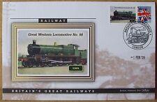 2009 Ltd Ed Benham Error Cover - GWR  Great Western Locomotive No.98