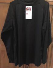 RASHGUARD UV 50+ MENS LONG Sleeve Rash Guard Top Size LARGE Black NWT $75