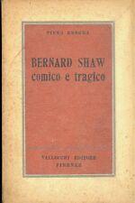 Piero Rebora: Bernard Shaw comico e tragico 1948