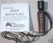 Deer Bleat Hunting Call with Solid Walnut Muzzle and Lanyard