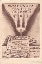 * VERONA - 6a Giornata Italiana del Francobollo 1943 XIV Adunata Filatelica
