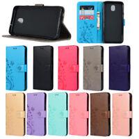 For Samsung J3 J4 J6 J7 2018 PU Leather Card Slots Wallet Flip Stand Case Cover