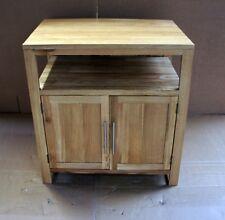 Damaged Solid Oak 75cm x 50cm Vanity Bedside Cabinet Cupboard TV Cabinet