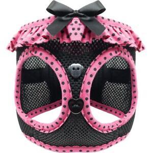 American River Hot Pink & Black Polka Dots Choke-Free Dog Harness -  XS-S-M-L-XL