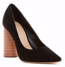 NIB $275 Pour La Victoire Cece Dress Suede Pump Heels Black Size 8