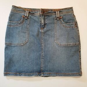DAISY FUENTES MODA Womens Straight Stretch Jean Skirt Size 2 Blue Denim Cotton