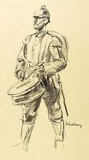 MAX LIEBERMANN - TROMMLER - Lithografie 1915