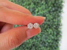 .72 Carat Face Illusion Diamond White Gold Earrings  14k sepvergara