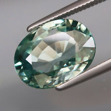 4.98Ct.Ravishing Color&Full Fire! Natural BIG Sea Blue Cambodian Zircon