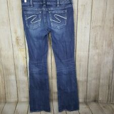 Silver Jeans Aiko Boot Cut Size 30 Womens 34 Inseam Long