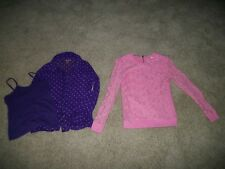 Epic Threads Purple Top + Heart N Crush Pink Top Girls Kids Clothes Lot Small S
