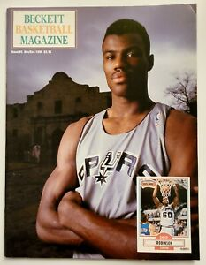 1990 BECKETT BASKETBALL MAGAZINE PRICE GUIDE #5 DAVID ROBINSON HAKEEM OLAJUWON
