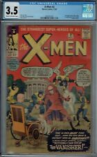 CGC 3.5 X-MEN #2 VANISHER 1ST APPEARANCE CR/OW PAGES 2ND XMEN APPEAR. 1963 KIRBY