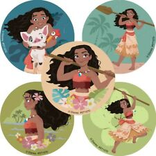 Moana Stickers x 5 - Moana Birthday Party - Favours - Moana Party Supplies Loot