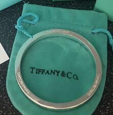 Tiffany and Co 925 completamente marchiato PESANTE Braccialetto 42.75g