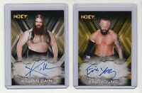 "2017 Topps WWE NXT Autograph Card  Eric Young #'d /10 & Killian Dain ""SANITY"""