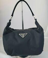 Authentic  PRADA BLACK nylon shoulder HoBo bag