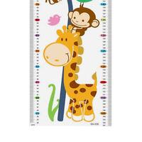 Giraffe Monkey Height Chart Kid Growth Measure Nursery Baby Wall Sticker Decal