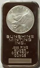 SUNSHINE MINT USA 1 OZ  FINE SILVER  MINTED BAR..SILVER EAGLE BULLION ISSUE.
