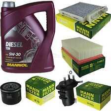 Motor-Öl 5L MANNOL Diesel TDI 5W-30+MANN-FILTER für Nissan Note E11 NE11 1.5 dCi