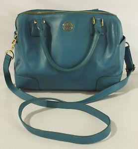 Tory Burch Women's Leather Robinson Middy Satchel Bag KB8 Electric Eel HDD024