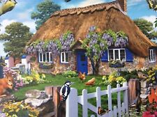 COUNTRY COTTAGE COLLECTION 6 WISTERIA COTTAGE1000 PIECE RAVENSBURGER JIGSAW USED