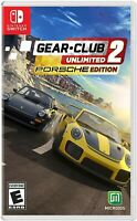 NINTENDO SWITCH - GEAR CLUB UNLIMITED PORSCHE EDITION BRAND NEW SEALED GAME