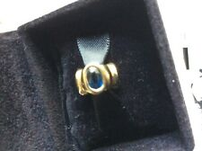 PANDORA 14K GOLD CHARM BLUE SAPPHIRE BONSAI LIGHTS AUTHENTIC RETIRED