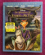 Adventures of Ichabod and Mr. Toad, The  (Blu-ray+DVD+Digital) NEW w/ Slipcover