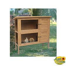 CUNI-HOUSE SEMOLA conigliera legno legno abete idrorepellente 124x45xh113.3