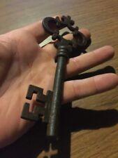 Victorian Master Door Iron Skeleton Key Vintage Antique style Heavy Cast NR!!!!