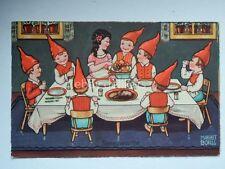 BIANCANEVE 7 NANI Sneeuwwitje Margaret Boriss AK vecchia cartolina Snow White
