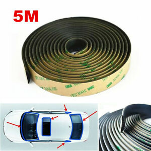 5M Car Windshield Sunroof Trim Edge Moulding Rubber Weatherstrip Seal Strip