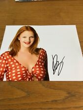 Drew Barrymore Signed 8x10 Photo.
