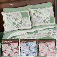 Lovely Patchwork Hadley Floral Set of 2 Pillow Shams