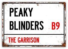 Peaky Blinders inspired VINTAGE Road Street Metal Shed GARAGE BAR Man CAVE Sign